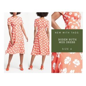 Boden Ruth MIDI Dress - New with Tags